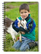 Boy With Goat Spiral Notebook