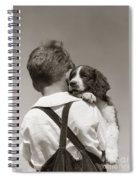 Boy With Puppy, C.1930-40s Spiral Notebook