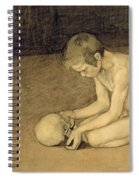 Boy With Skull Spiral Notebook