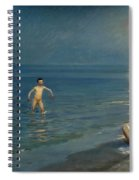Boys Bathing At Skagen. Summer Evening Spiral Notebook