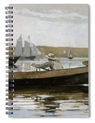 Boys In A Dory, By Winslow Homer, Spiral Notebook