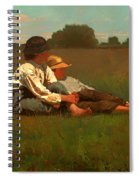 Boys In A Pasture Spiral Notebook