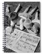 Boys Reading Newspaper Comics, C.1950s Spiral Notebook