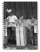 Boys Selling Lemonade, C.1940s Spiral Notebook