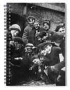 Boys Shooting Craps, C1910 Spiral Notebook