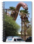Brachiosaurus Running Through Cabazon Spiral Notebook