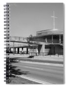 Bradford Beach House B-w Spiral Notebook