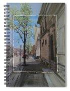 Brady Street With Tree Layered Spiral Notebook