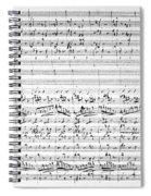 Brahms Manuscript Spiral Notebook