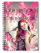 Brainless Teen Bimbo Spiral Notebook