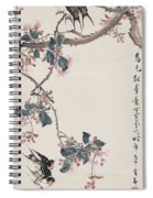 Branch Magpie Painting Spiral Notebook