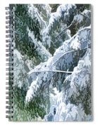 Branches In Winter Season With Fresh Fallen Snow Spiral Notebook