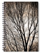 Branches Silhouettes Mono Tone Spiral Notebook
