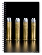 Brass And Lead Bullets. Spiral Notebook