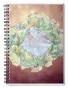 Brass Flower Spiral Notebook