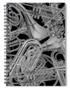 Brass Instruments Bw Spiral Notebook