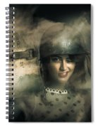 Brave Army Pinup Spiral Notebook