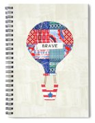 Brave Balloon- Art By Linda Woods Spiral Notebook