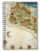 Brazil: Map And Native Indians Spiral Notebook