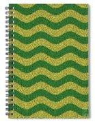Brazilian Paving Pattern In Brazilian Colours. Spiral Notebook