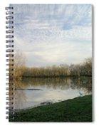 Brazos Bend White Egret Solitude Spiral Notebook