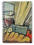 Bread Pasta Wine Spiral Notebook