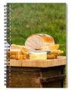 Bread With Butter On Cutting Board Spiral Notebook