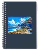 Breakers On The Rocks At Kenridgeview - On - Sea L A S Spiral Notebook