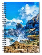 Breakers On The Rocks At Kenridgeview - On - Sea L B Spiral Notebook