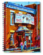 Breakfast At The Bagel Cafe Spiral Notebook