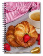 Breakfast With Croissants Spiral Notebook