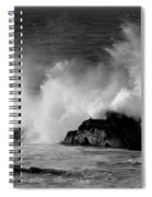 Breaking Wave At Pacific Grove Spiral Notebook