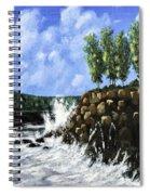 Breaking Waves Painting Spiral Notebook