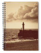Breakwater At Sete Spiral Notebook