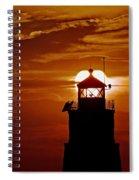 Breakwater Light Sunset Spiral Notebook