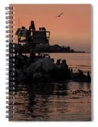 Breakwater Sunset Spiral Notebook