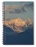Breathtaking View Of The Italian Alps With A Cloudy Sky  Spiral Notebook