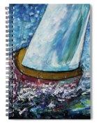 Breeze On Sails -2  Spiral Notebook