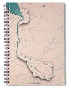 Bremen Bundesland Germany 3d Render Topographic Map Neutral Bord Spiral Notebook