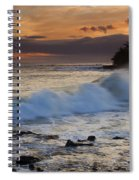 Brennecke Waves Sunset Spiral Notebook