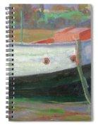Breton Fisherboat At Paimpol  Bretagne   Spiral Notebook