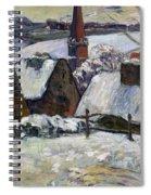 Breton Village Under Snow Spiral Notebook