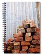 Brick Piled Spiral Notebook