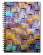 Brick Wall In Abstract 499 S Spiral Notebook