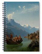 Bridal Procession On The Hardangerfjord Spiral Notebook
