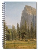 Bridal Veil Falls Yosemite Valley California Spiral Notebook