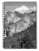 Bridalveil Falls From Tunnel View B And W Spiral Notebook