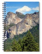 Bridalveil Falls From Tunnel View Spiral Notebook
