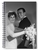Bride And Groom, C.1960s Spiral Notebook