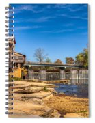 Bridge And Creek In The Fall Spiral Notebook